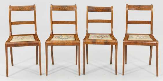 Набор из шести бидермейер стулья - фото 1