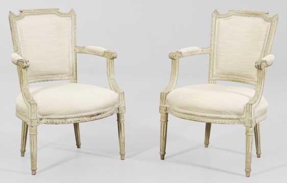 Набор из четырех Людовика XVI подлокотниками стулья - фото 1