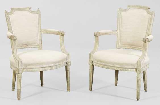 Набор из четырех Людовика XVI подлокотниками стулья - фото 2