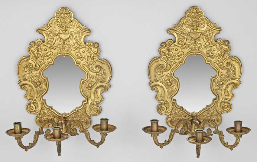 Пара зеркал-аппликации в стиле барокко - фото 1