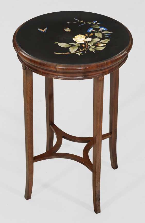 Стол-тумба с тонким Pietra Dura плита - фото 1