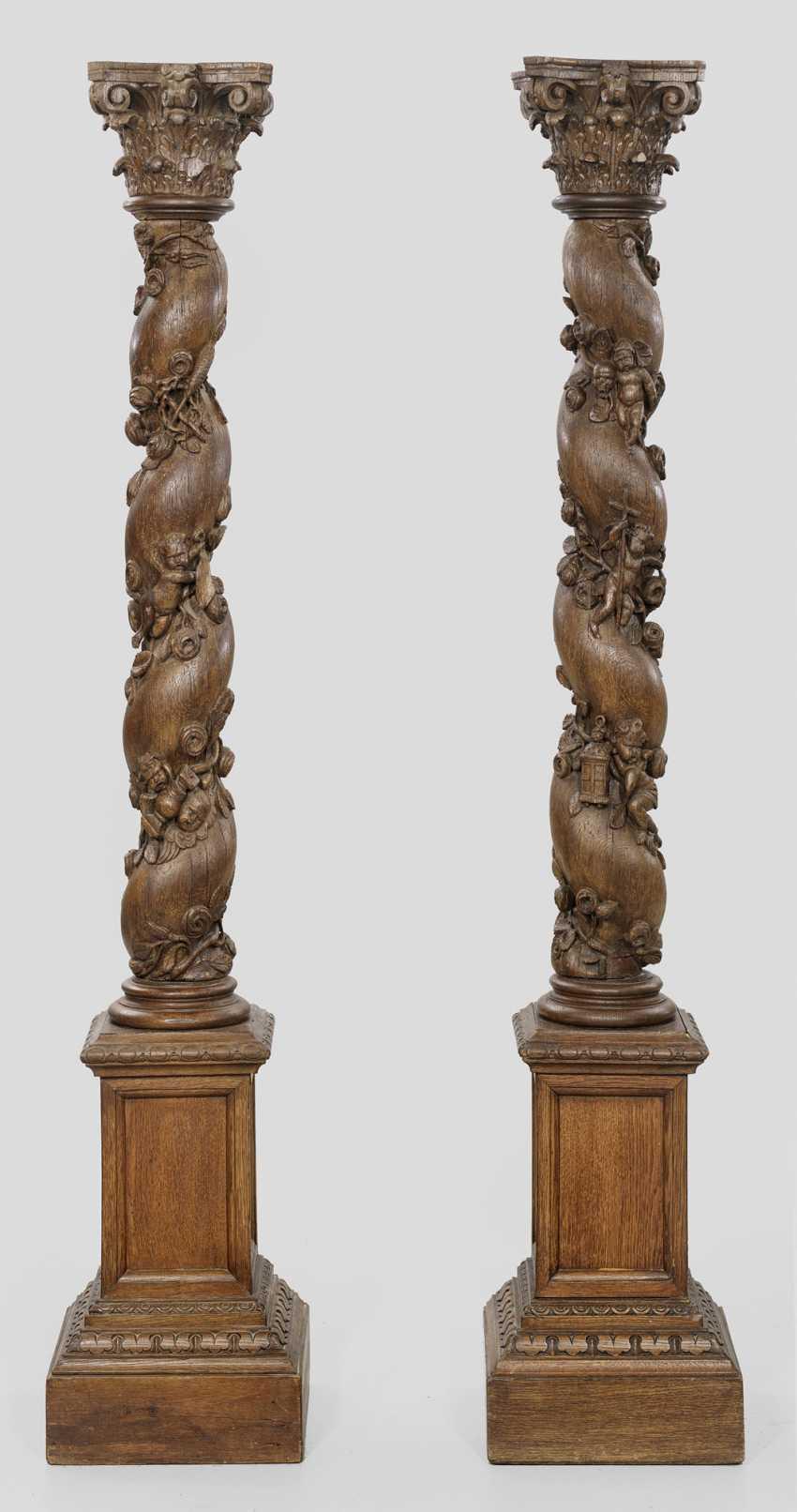 Pair Of Baroque-Pillars - photo 1