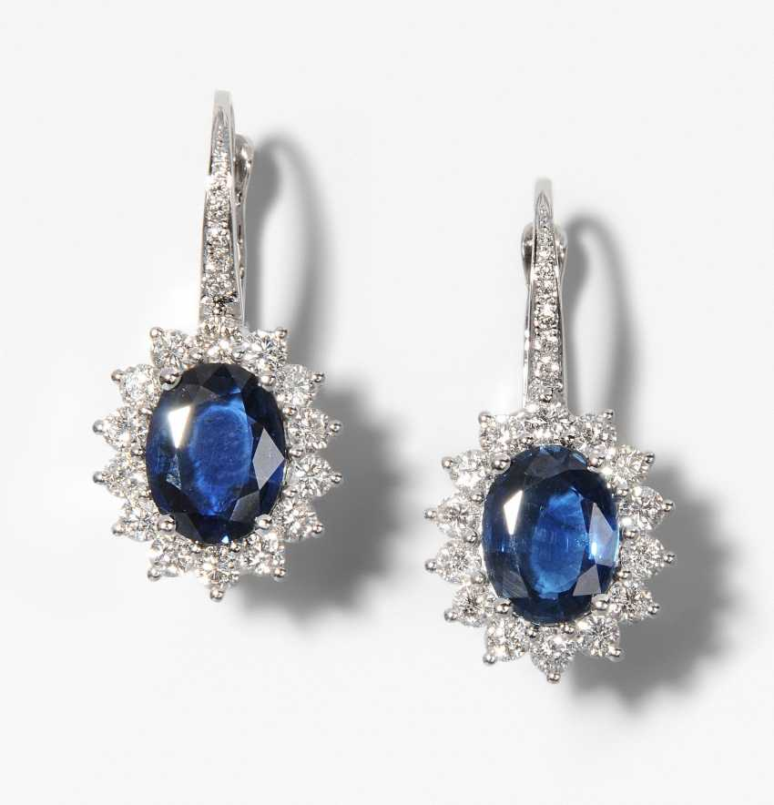 Sapphire And Diamond Earrings - photo 1