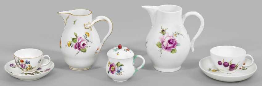 Фарфор-свертки с цветочный Декор - фото 1