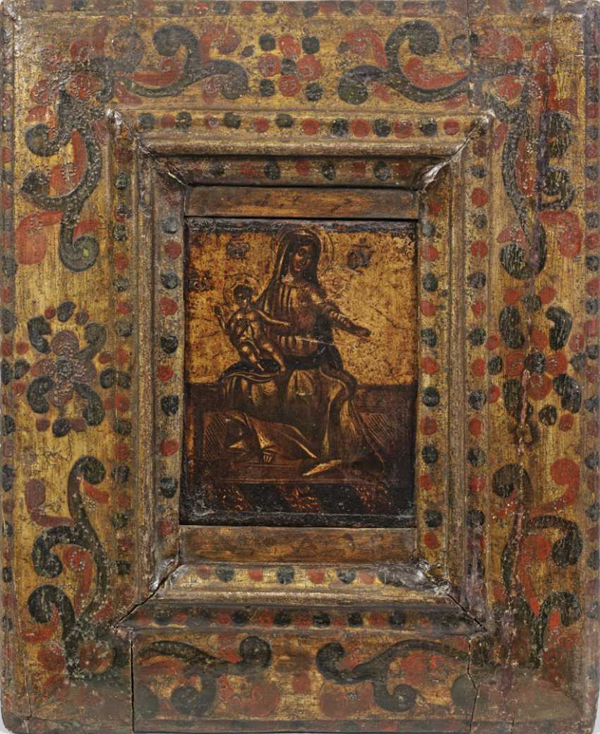 Икона Божьей матери с Иисусом мальчиков - фото 1