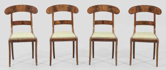 Набор из четырех бидермейер стулья - фото 1