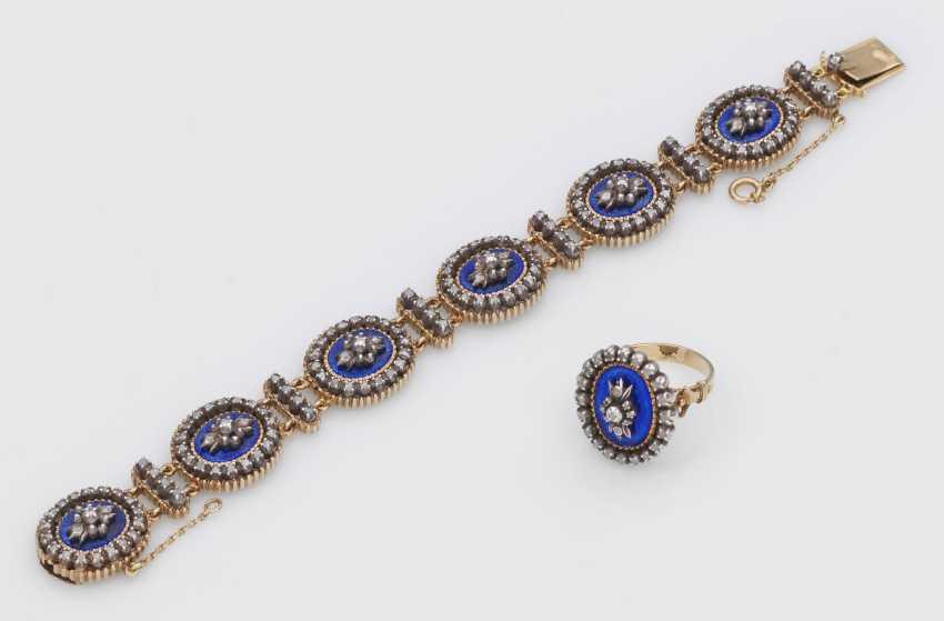 Belle Epoque-браслет с кольцо korrespondierendem - фото 1
