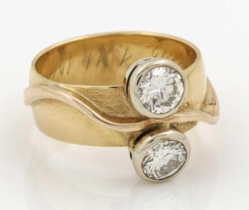 Модная лента кольцо с бриллиантом-Солитарные - фото 1