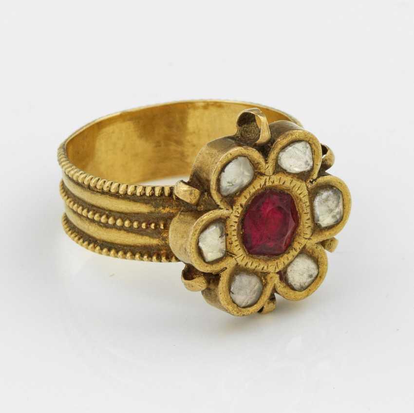 Античная индийский свадебное кольцо - фото 1