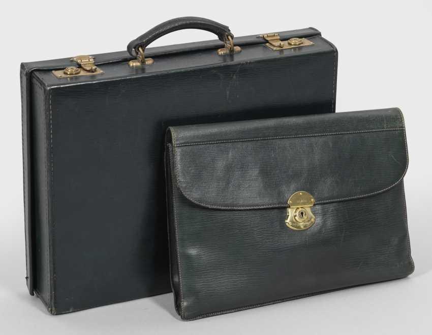 Винтажный портфель с портфеле - фото 1