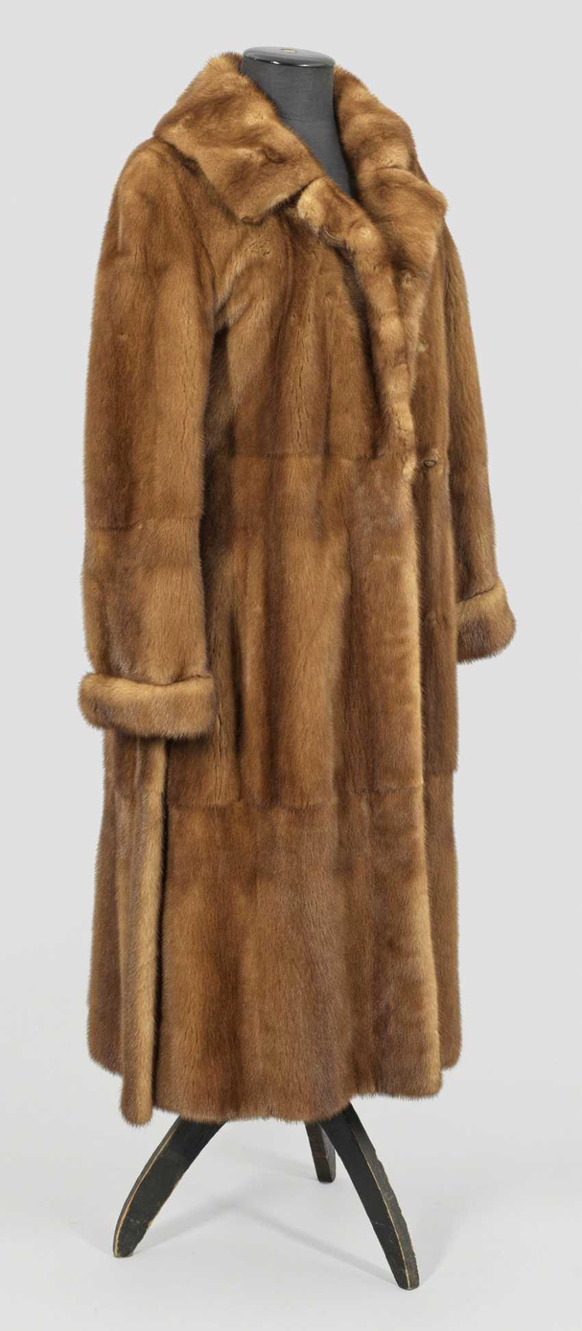 Длинная Женская Норковая Шуба - фото 1