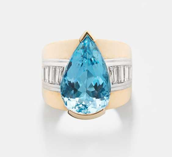 Aquamarin-Diamant-Ring - photo 1