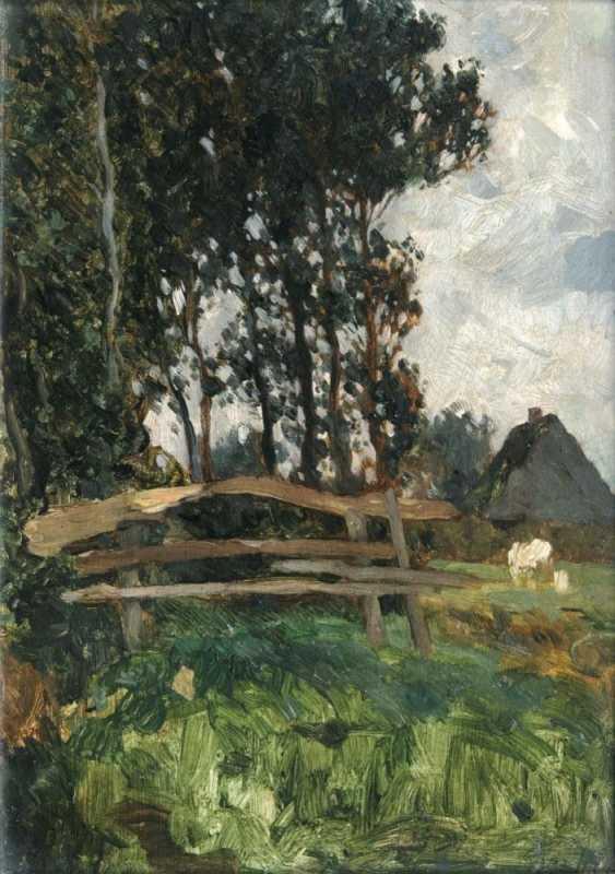 Пейзаж с заставы и подворье - фото 1