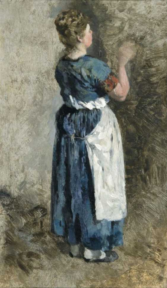 Femme en Robe bleue - photo 1