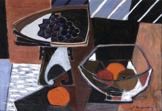 Натюрморт с фруктами в сосудах - фото 1