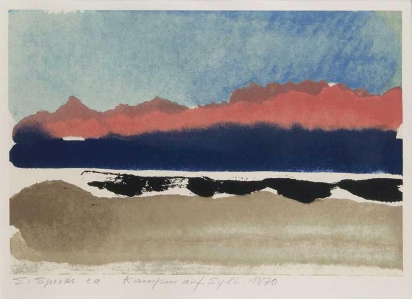 Красное небо над Sylt - фото 1