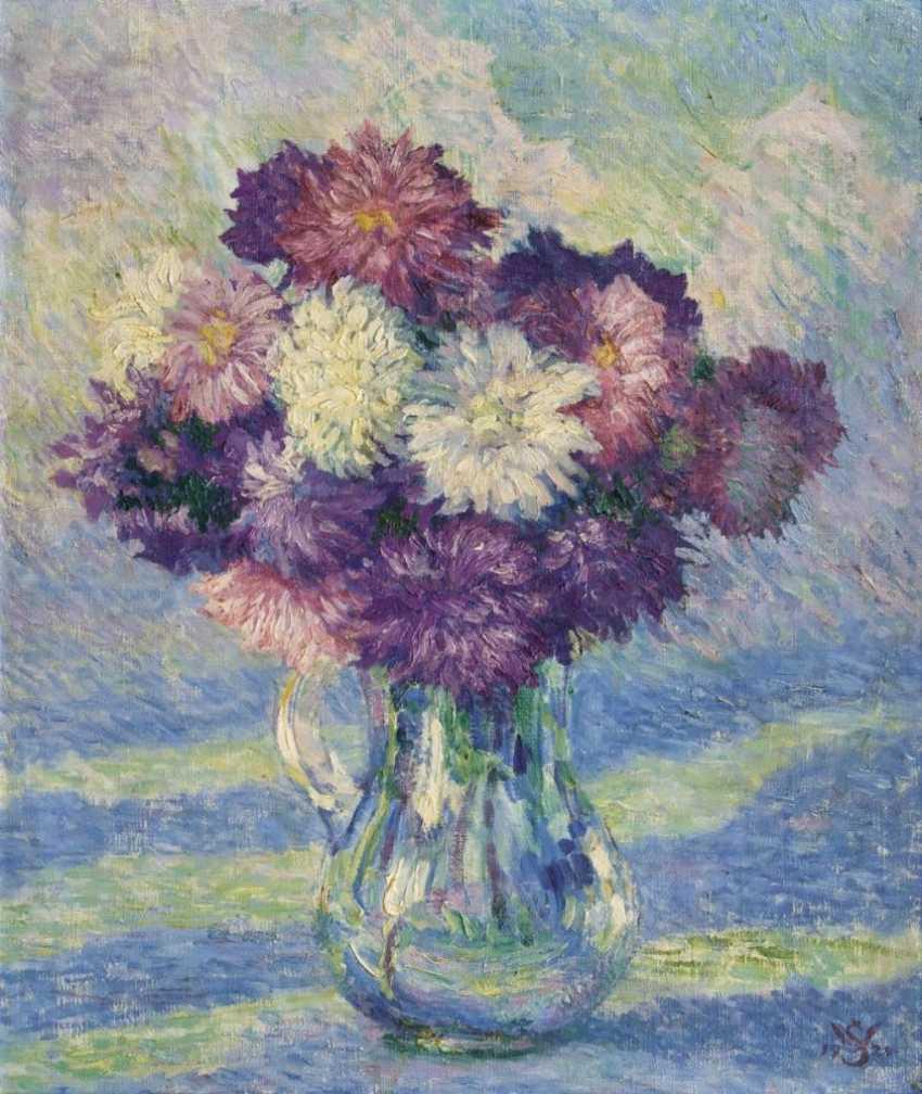 Цветы в вазе - фото 1
