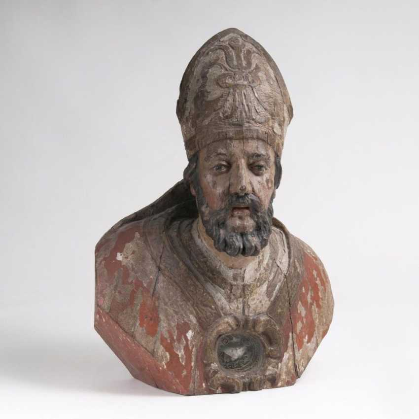 Барокко реликвии бюст епископа - фото 1