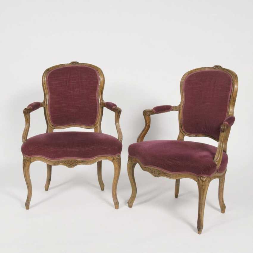 Пара маленького рококо кресла - фото 1