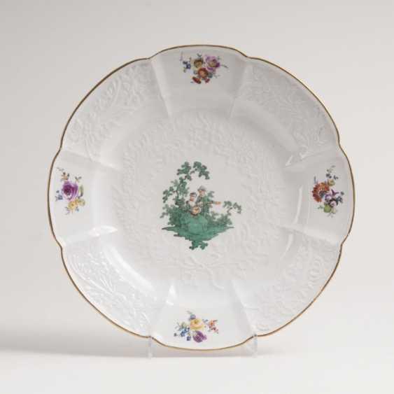 Тарелка с медным зеленый Ватто картины - фото 1