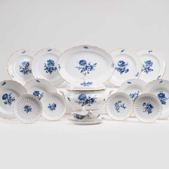 Обеденный сервиз 'голубой цветок с насекомыми' на 6 персон - фото 1