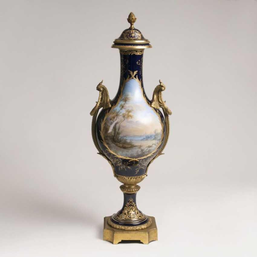 Большая декоративная ваза в Парадных Севр манера - фото 2