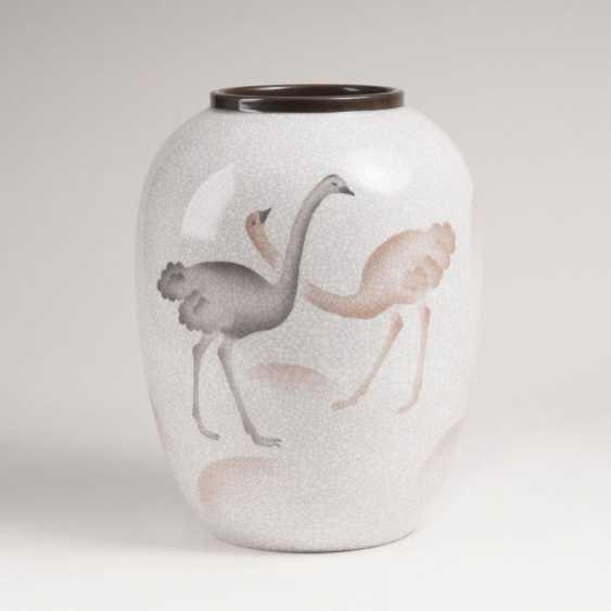 Большой арт деко ваза с букет Декор - фото 1
