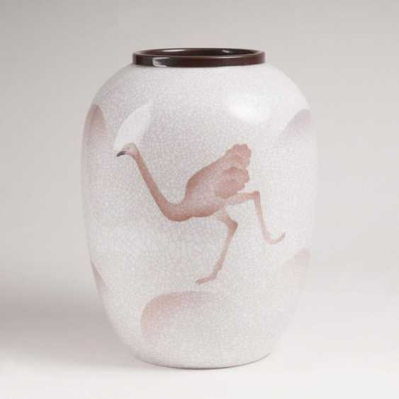 Большой арт деко ваза с букет Декор - фото 2