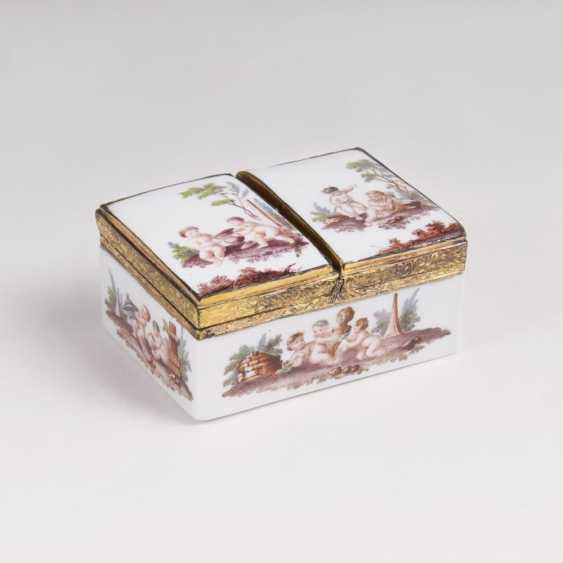 Rare double box with putti decor - photo 1