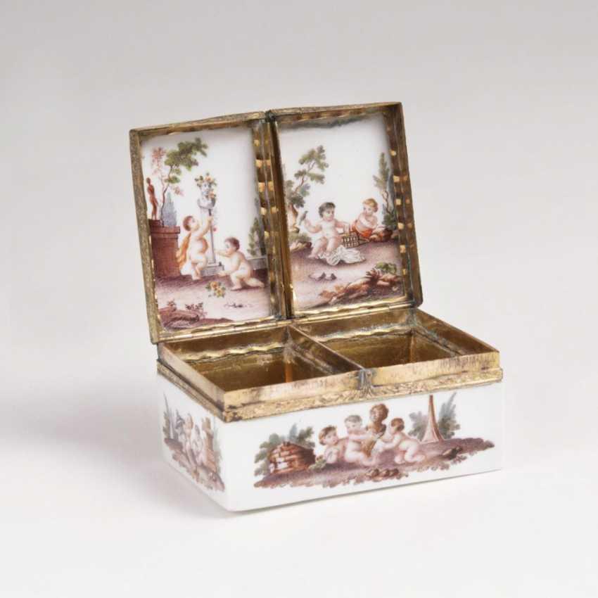 Rare double box with putti decor - photo 2