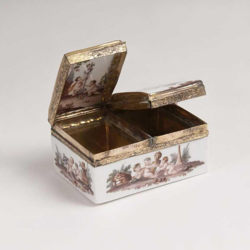 Rare double box with putti decor - photo 3