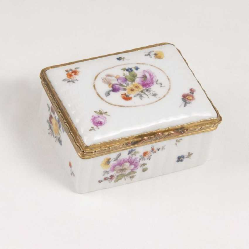 Tabatière с Ozier-плетеные цветы рельеф и живопись - фото 2