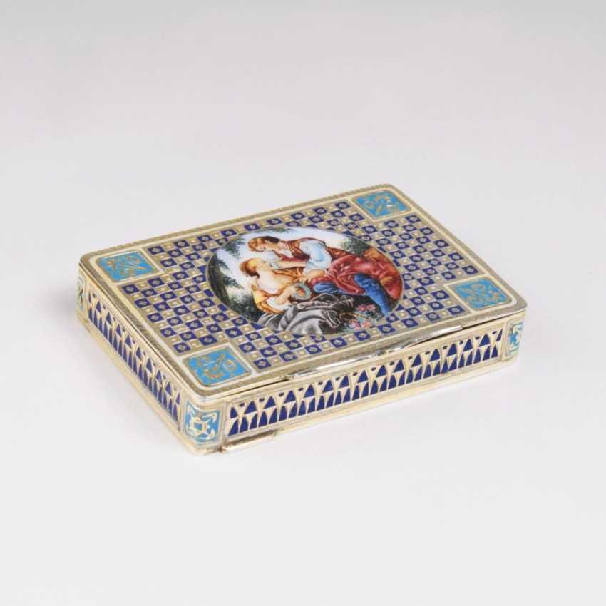 Маленький эмаль-шкатулка с galantem Пара - фото 1