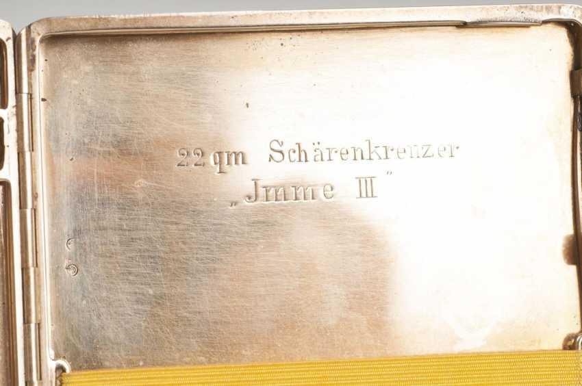 Золотой портсигар 'Norddeutscher Regatta Verein и гамбургеры парусный клуб' - фото 2