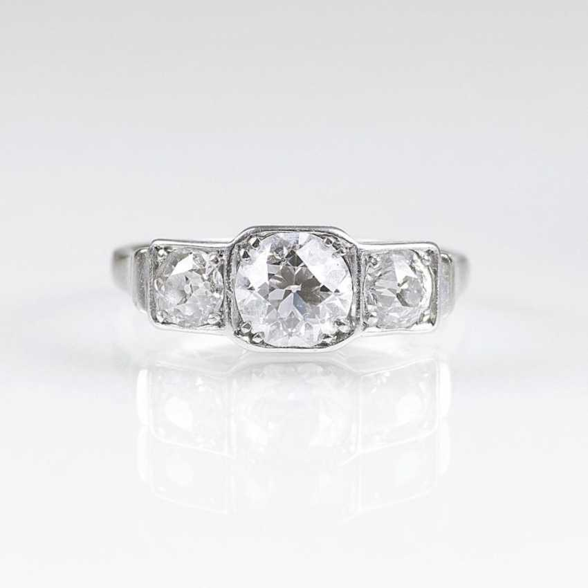 Модерн кольцо с Altschlifdiamanten - фото 1