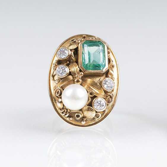 Старинные золотые кольца Smaragdbesatz МТИ - фото 1