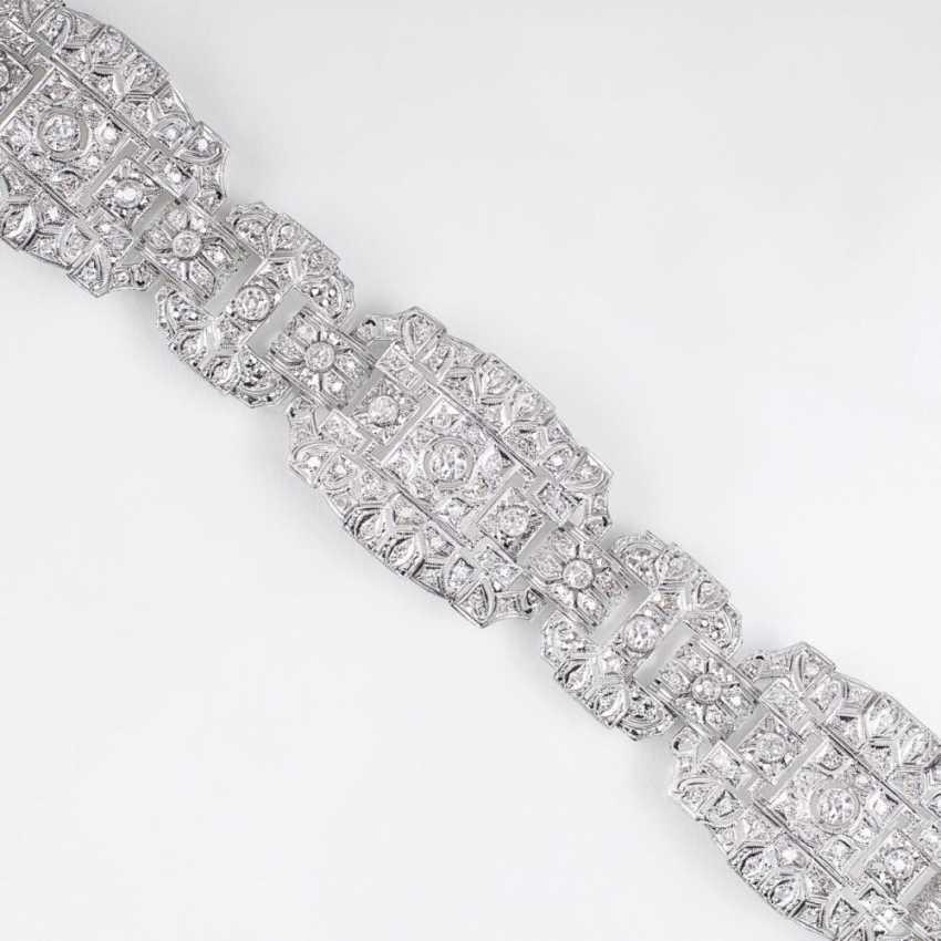 Роскошный бриллиантовый браслет в стиле АР-деко - фото 1