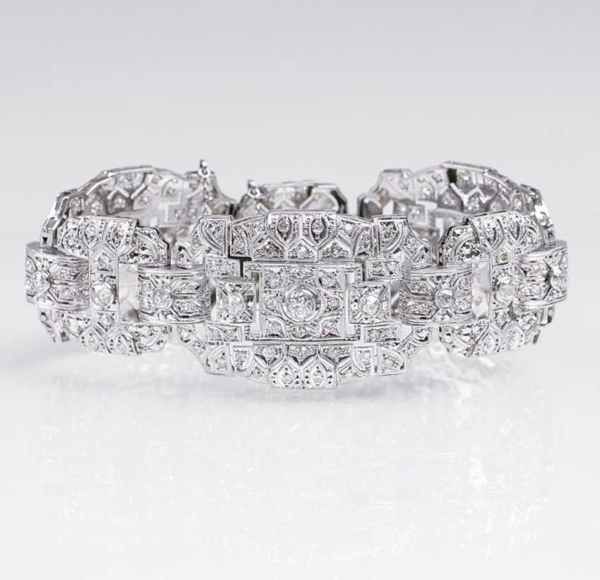 Роскошный бриллиантовый браслет в стиле АР-деко - фото 2