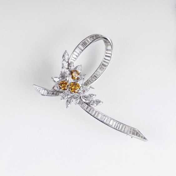 Exceptionnellement fine Vintage Diamant Brillant Broche - photo 1