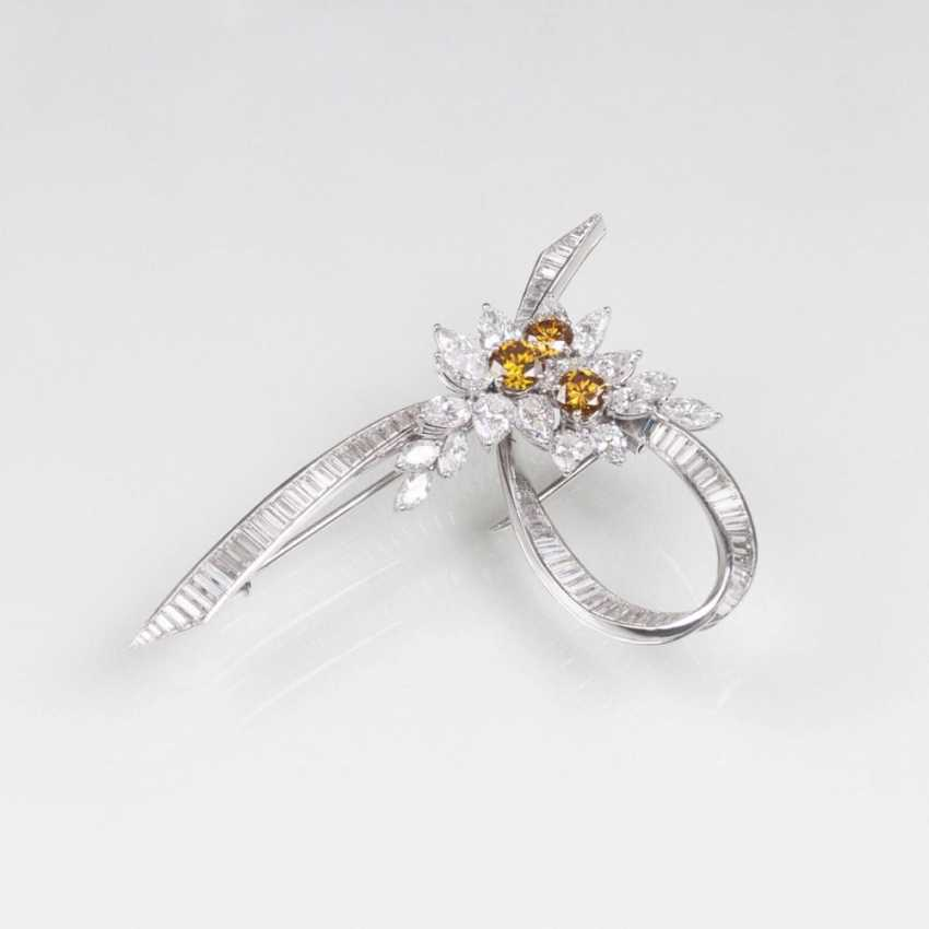 Exceptionnellement fine Vintage Diamant Brillant Broche - photo 2