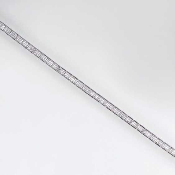 Мелко-белый алмаз Теннисный браслет - фото 1