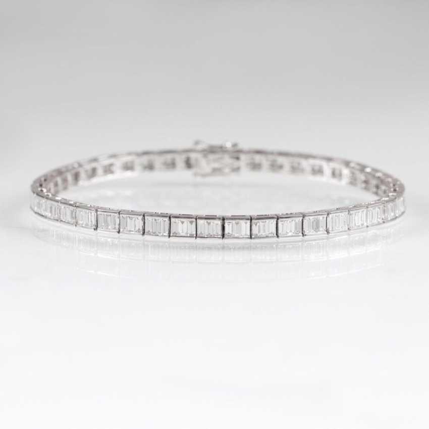 Мелко-белый алмаз Теннисный браслет - фото 2