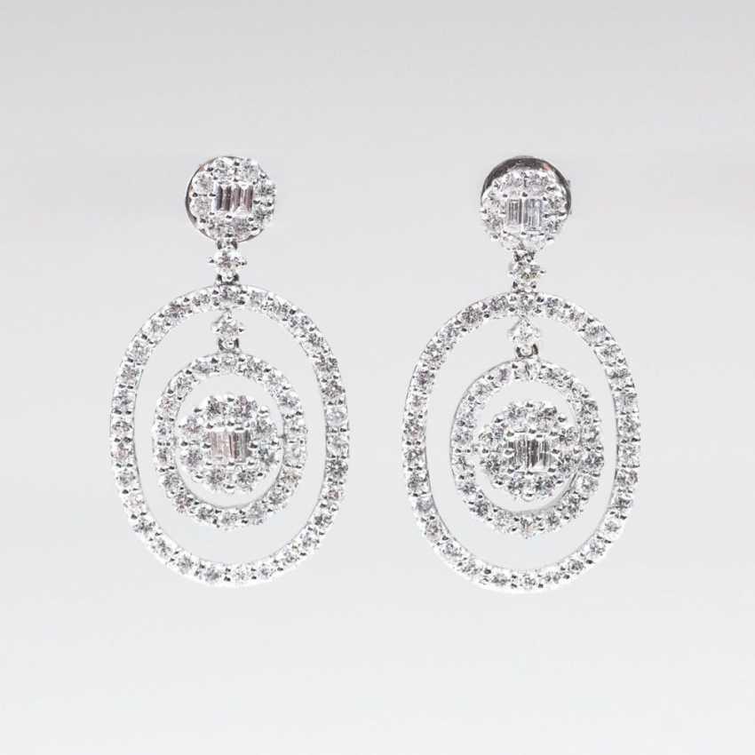 Пара шикарная алмаз-бриллиант-серьги - фото 1