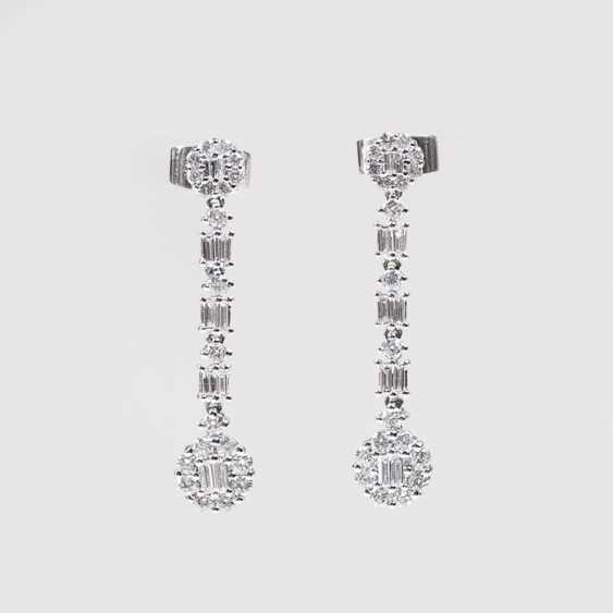 Quelques Diamant Brillant Boucles D'Oreilles - photo 1