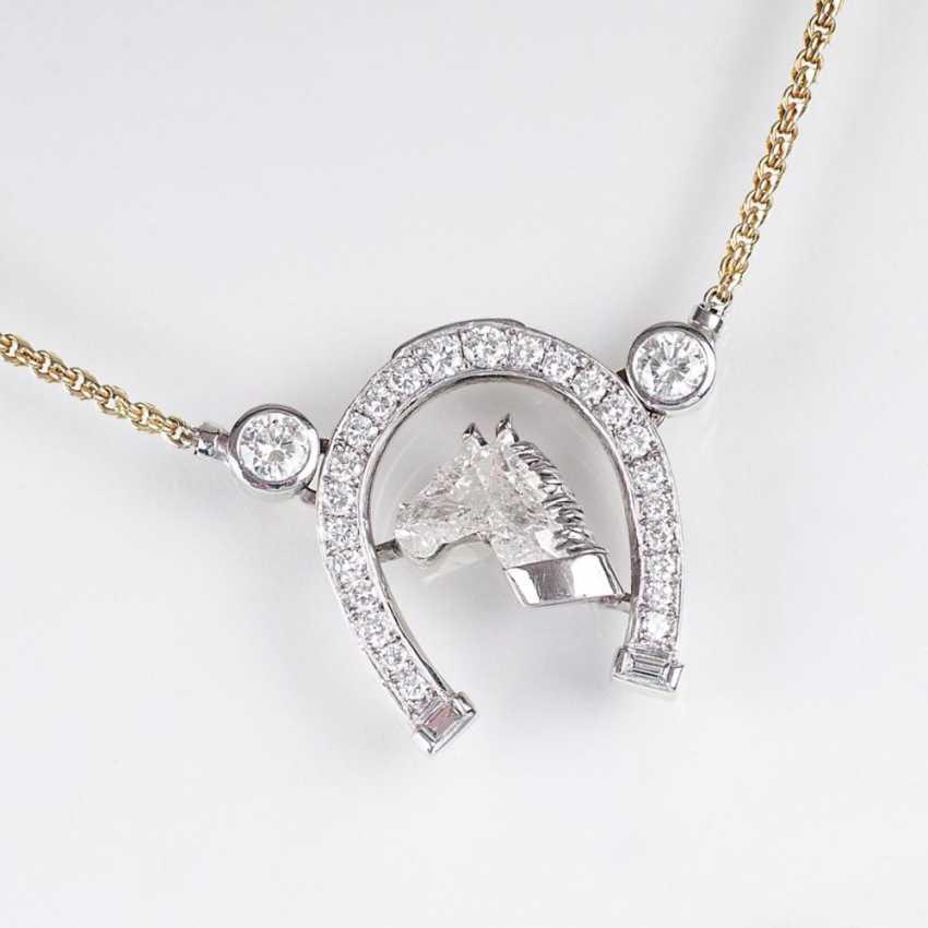 Блестящий кулон с бриллиантом в голова Лошади-в форме ожерелье - фото 1