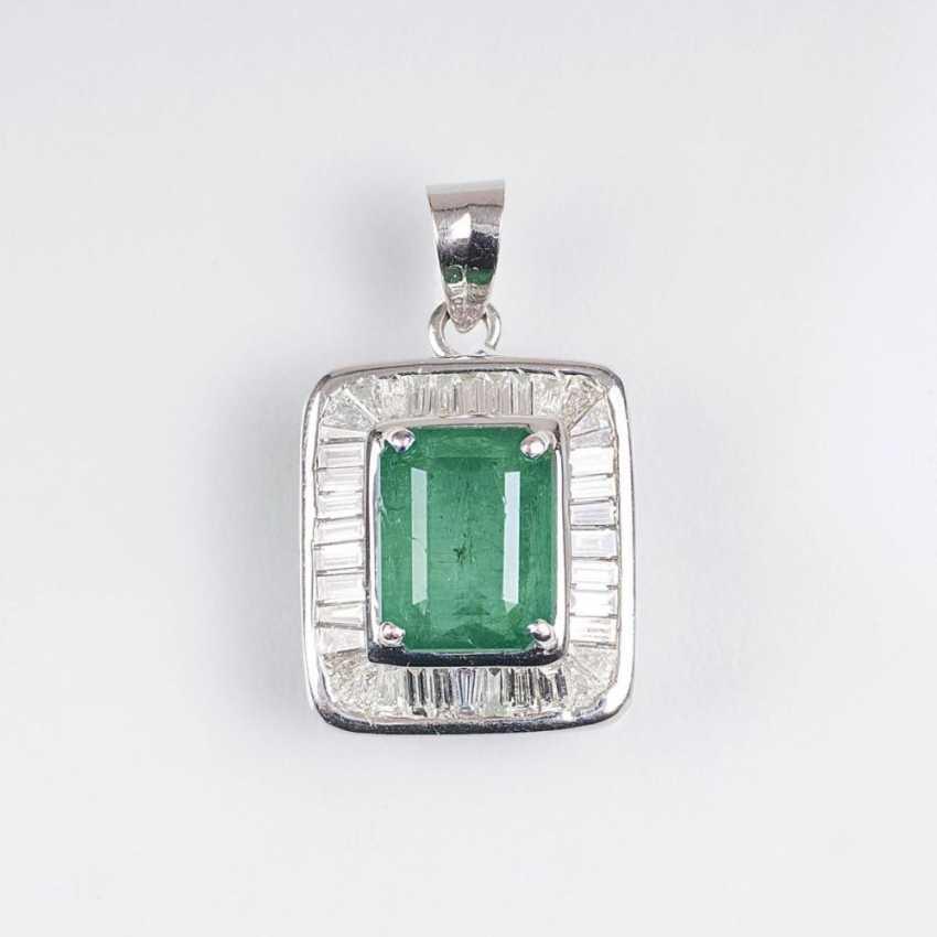 Изумрудный Алмазный Кулон - фото 1