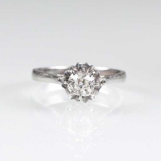 Пасьянс кольцо с altschliff алмаз - фото 1