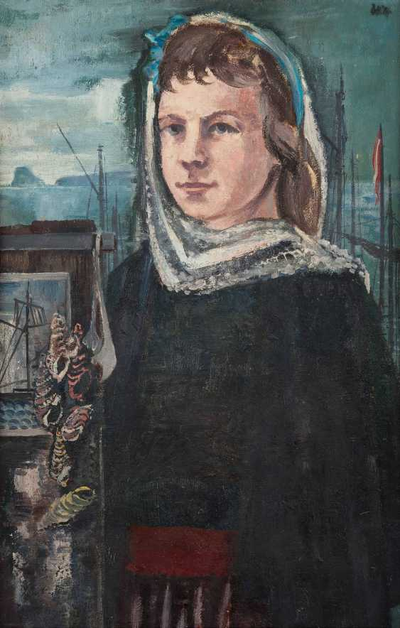 CARL BARTH, 1896 Haan - 1976 in Düsseldorf, attributed to PORTRAIT of A Fisher girl - photo 1