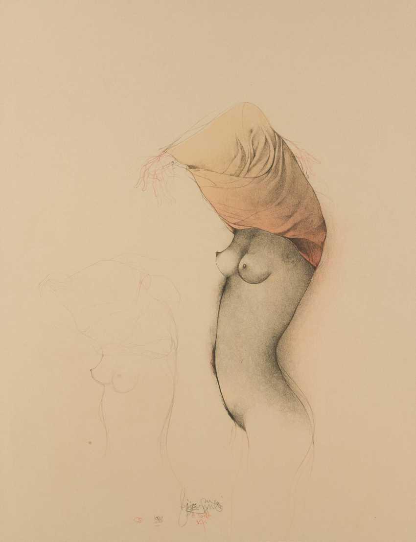 BRUNO BRUNI 1935 Gradara near Pesaro (Italy) - lives and works in Hamburg undress of DAMENAKT - photo 1