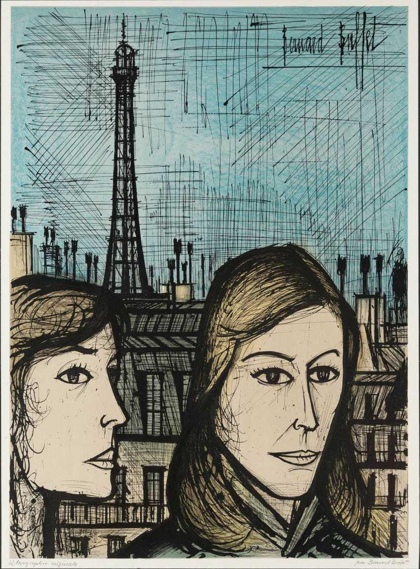 BERNARD BUFFET 1928 Paris - 1999 Salernes (Var), set OF THREE LEAVES - photo 1